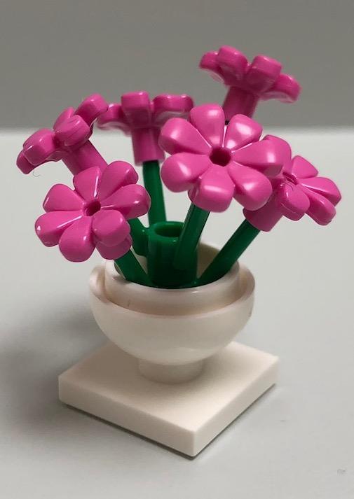 5 Stück Pflanzen LEGO®  rosa  Blumen